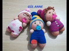 ten çoraptan bebek yapımı kendin yap DIY basic toy - YouTube Innova Manualidades, Sock Toys, Baby Socks, Diy Toys, Slippers, Puppets, Shoes, Amigurumi, Doll Clothes