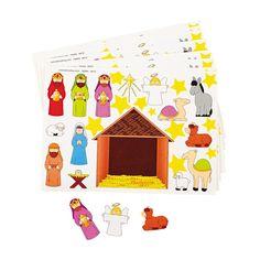 """Nativity Scene Stickers - (26 stickers per sheet, 1 dozen sheets per unit) 1/4"""" - 3""""  $3.00 Makes 12"""