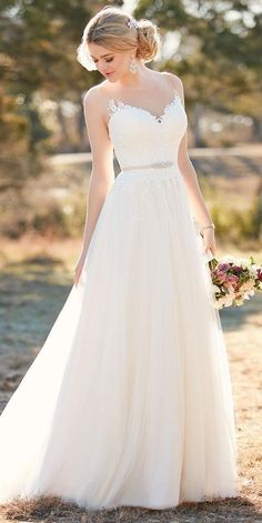 lace sweetheart neckline a line wedding gowns essense of australia