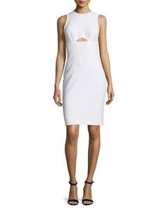 TC3SY Nicole Miller Artelier Sleeveless Cutout Sheath Dress