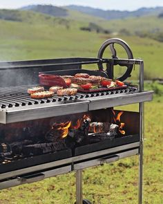 wood-fire grill imparts great flavor
