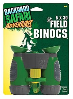 Backyard Safari Field Binocs Children's binoculars with magnifying power Adjustable focus and soft, safe rubber eye cups Rubberized hand grips perfect for little hands Includes binocs and a lanyard Recommended for children 6 years of age and older Outdoor Activities For Kids, Camping Activities, Camping Ideas, Gifts For Boys, Toys For Boys, Kids Toys, Kids Hiking Backpack, 4 Year Old Boy, Hiking With Kids