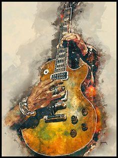 "Slash& Guitar Music Wall Art 12 x 16 ""- Music Poster Music Room Decor Guitar . - Slash& Guitar Music Wall Art ""- Music Poster Music Room Decor Guitar Electric Guitar G - Guitar Wall Art, Music Wall Art, Guitar Painting, Music Artwork, Guitar Drawing, Music Painting, Wall Drawing, Guitar Gifts, Music Gifts"