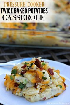 This Instant Pot Twice Baked Potatoes Casserole Recipe is amazing! It is one of our new favorite pressure cooker recipes because it saves so much time! You get all the flavor of twice baked potatoes w(Gluten Free Cheese Sticks) Instant Pot Pressure Cooker, Pressure Cooker Recipes, Pressure Cooking, Loaded Baked Potato Casserole, Potatoe Casserole Recipes, Pots, Side Dish Recipes, Stromboli, Cooking Recipes