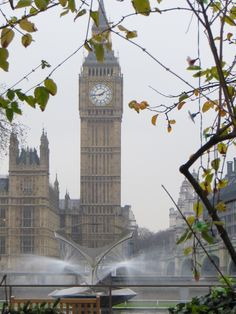 Big Ben from the grounds of St Thomas Hospital