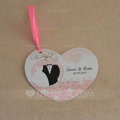 Personalized Favors - $48.99 - Personalized Bride And Groom Paper Invitation Cards With Ribbons (Set of 50) (118032294) http://jjshouse.com/Personalized-Bride-And-Groom-Paper-Invitation-Cards-With-Ribbons-Set-Of-50-118032294-g32294