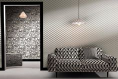 Bold black-and-white geometrics, stripes and twisted lines are back in a big way Black And White Furniture, Black And White Fabric, Latest Design Trends, Home Decor Trends, Decor Styles, Home And Garden, House Design, Interior, Fabrics