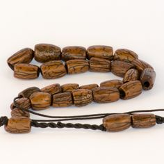 Coffee Olive Kernel Greek Worry Beads