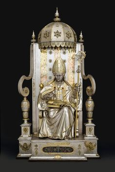 Silver statue of St. Benon by Jeremias Sibenbürger, 1625, Diözesemuseum Freising, commissioned by Sigismund III Vasa