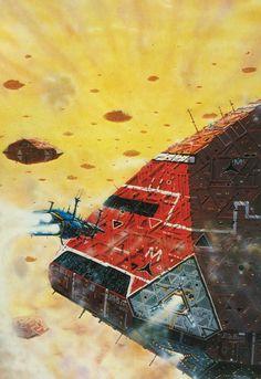 Peter Elson. From Great Space Battles (Stewart Crowley & Charles Herridge, 1979)