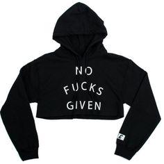 ❗️SALE❗️ Black Crop Hoodie Brand new in packaging Tops Sweatshirts & Hoodies