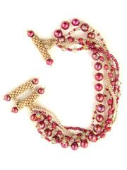 """Nora Bracelet Kit from Anniescatalog.com -- This elegant bracelet is incredibly easy to create, and can be sized up to 9"""" to fit just about anyone. The closure is a unique three-bar beaded toggle clasp."""