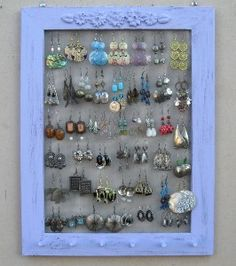 Earrings Holder Shabby Chic Jewellery Display Jewelry