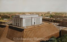 "Sumerian city of Uruk around 3100 BC. So-called ""White Temple"" of the Sky god Anu"