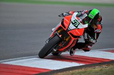 Portimao, POR - Eugene Laverty on the Aprilia RSV4. #superbike