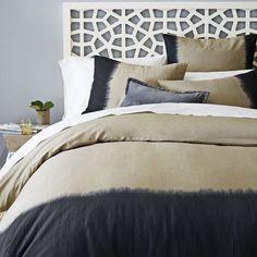 duvet covers Dip-Dye Linen Cotton Blend Duvet Cover. west elm