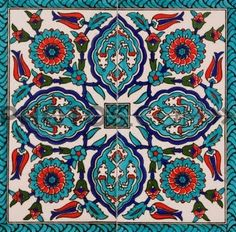 Iznik tiles, Turkey.