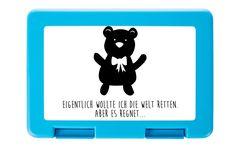 Brotdose Teddybär aus Premium Kunststoff  schwarz - Das Original von Mr. & Mrs. Panda.  Diese wunderschöne Brotdose von Mr. & Mrs. Panda ist wirklich etwas ganz Besonderes - sie ist stabil, sehr hochwertig und mit einer exklusiven und schimmernden bedruckten Aluminiumplatte  ausgestattet.    Über unser Motiv Teddybär  Teddybären oder Knuddelbären sind heute nicht mehr nur bei Kindern beliebt. In jedem Kinderzimmer ist ein süßer flauschiger Bär zu finden. Der Teddy begleitet schon…