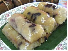 (Khao tom mad) -	Steamed glutinous rice cakes with banana recipe