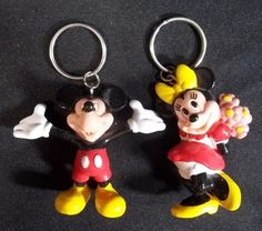 Mickey Minnie Mouse Key Chains Monogram Products 1993 Disney #Monogramproducts