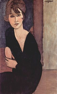 Amedeo Modigliani - Portrait de Mme Raynouard . 1916