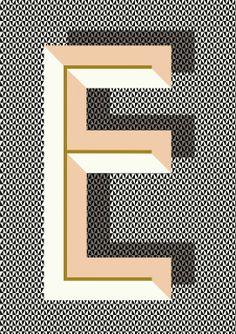 Nástěnný obrázek s písmenem E | Nordic Day
