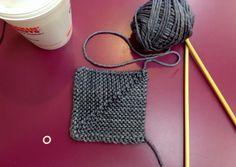How to make mitered squares on the LoveKnitting blog