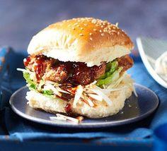 Korean fried chicken burgers
