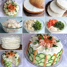 Delicious Swedish Sandwich Cake for Savory Food Lovers Cold Sandwiches, Party Sandwiches, Delicious Sandwiches, Sandwich Torte, How To Make Sandwich, Easy Cake Recipes, High Tea, Tapas, Food And Drink