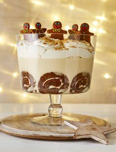 Gingerbread trifle - could do for Christmas with gingerbread Christmas trees?