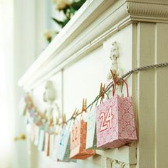 Holiday Countdown Calendar! Cute idea to count down until Christmas with small little gifts for your kids!