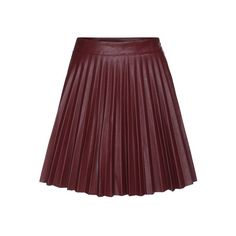 """This is 18"""", find one that's about 25"""".....Red Leather/PU Above Knee/Short Pleated Street Plain Fabric has no stretch Fall Skirts, Length(cm): S:46cm,M:47cm Size Available: S,M Style: Street."""