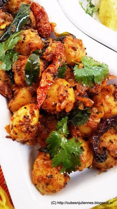 SPICY BABY POTATOES Baby potatoes Mustard seeds 1 tsp Cumin seed 1 tsp Curry leaves Dried red chilies (whole) Urad dal 1 tsp Red chili powder Turmeric ½ tsp Coriander powder ½ tsp Salt imli 3 tbsp Oil 2 tbsp For ground masala: Cumin seeds 1 tsp Baby Potato Recipes, Curry Recipes, Kitchen Recipes, Vegetable Recipes, Vegetarian Recipes, Cooking Recipes, Healthy Recipes, Veggie Food, Easy Vegetarian Dishes