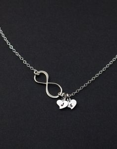 Personalized Infinity Necklace Mother's Day by MenuetDesigns
