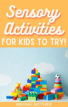 The affordable sensory play activities all kids should try out! With over 50 to choose from there is an option for your kids on our list! #sensoryplay #sensoryactivities #motorskills 5 Senses Activities, Sensory Activities For Preschoolers, Sensory Games, Fine Motor Activities For Kids, Baby Sensory, Sensory Play, Toddler Activities, Preschool Activities, Homemade Playdough