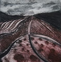 Moorland Heather 3d Landscape, Collagraph, Hd Images, Mists, Printmaking Ideas, Aw 2017, Printing, Lino Cuts, Lino Prints