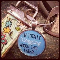 You have to admit this is a cute keychain from Singing Bird Studios. #beechrt #blogging #hsbloggers  Photo Filter: Hudson