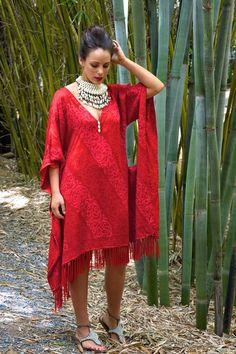 Ladli Designs Kaftan - Lola Red