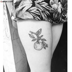 Apple tree tattoo