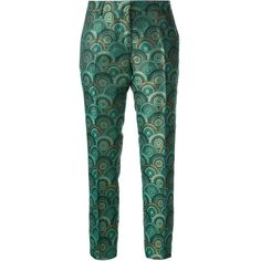 TRES CHIC S.A.R.T.O.R.I.A.L. cropped printed trouser ($341) found on Polyvore