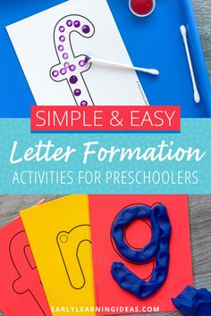 Teach kids correct letter formation with these fun, hands-on activities. Better than a worksheet, use these printable letter cards for engaging alphabet activities. Teach your preschool and pre-k kids how to build uppercase and lowercase letters with proper formation (includes a dot as a visual cue fo the starting point). Find 20 different ideas to use these little letter sheets to teach the basic skills that will help your kids with handwriting letters. Phonemic Awareness Activities, Alphabet Activities, Language Activities, Hands On Activities, Literacy Activities, Teaching Letters, Teaching Kids, Rainbow Writing, Visual Cue