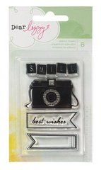 Dear Lizzy Neapolitan Camera Clear Acrylic Stamp (American Crafts)