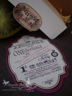 Click Me...Alice In Wonderland Invitation by AmandaMichelleDesign