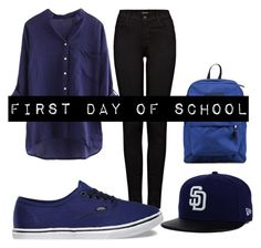 """Back to school with Polyvore.."" by denisprodea-dp ❤ liked on Polyvore featuring J Brand, Vans and JanSport"