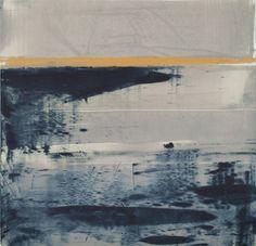 Artist Stephen Robson Print titled 'Marsh 2' monoprint, 16 x 16 cms approx.