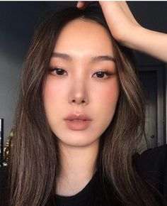 Natural Makeup Ideas That Will Leave You Looking Flawless Asian Makeup Looks, Korean Makeup Look, Asian Eye Makeup, Summer Makeup Looks, Makeup Tips, Beauty Makeup, Hair Makeup, Hair Beauty, Natural Summer Makeup