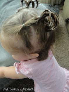 Toddler Hairstyles--- I'm doing syera's hair if I have to tie her down, lol. Savana wouldn't have it.