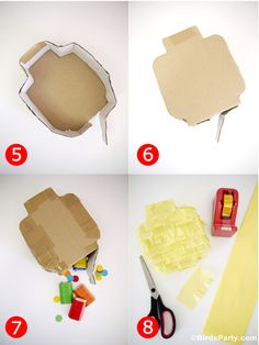 DIY Lego Inspired Party : How To Make a Lego Head Pinata - BirdsParty.com