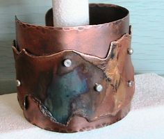 large copper cuff More
