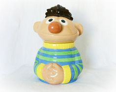 Vintage Cookie Jar Ernie Sesame Street 80s from PaddywhackKnickKnack, $45.00